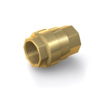 "Check Valve TVR61 with internal thread G1"" on both sides, DN 25 mm, brass"