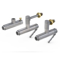 WEH® Connector TW156 for testing respiratory protective equipment, Actuation optional manually or pneumatically, max. 375 bar - Series