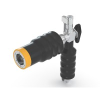 WEH® Fuelling Nozzle TK24 CNG for buses / trucks (NGV2), external 3-way valve, with gas recirculation, 250 bar
