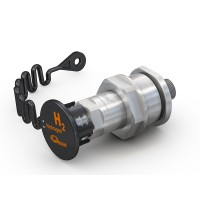 """WEH® Receptacle TN1 H₂ 70 MPa for refuelling of cars (EC79), with external thread UNF 9/16""""-18, prepared for data interface"""