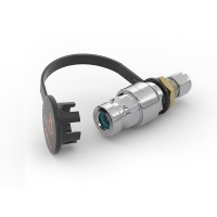 """WEH® Receptacle TN1 H₂ for refueling of cars, with tube Ø 3/8"""", filter 50 micron, 25 MPa"""