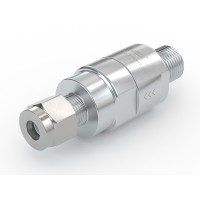 """WEH® Check Valve TVR1 CNG for installation in cars (ECE), with external thread NPT 1/4"""" and tube Ø 1/4"""", 200 bar"""