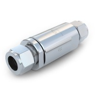 """WEH® Check Valve TVR5 CNG for buses / trucks (ECE), with tube Ø 1/2"""" on both sides, 200 bar"""